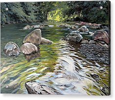 East Okement River Acrylic Print