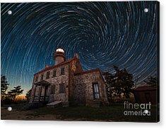 East Point Light Vortex Star Trails Acrylic Print