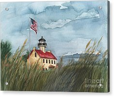 East Point Lighthouse Acrylic Print by Nancy Patterson