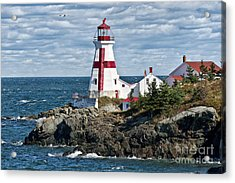 East Quoddy Lighthouse Acrylic Print by John Greim