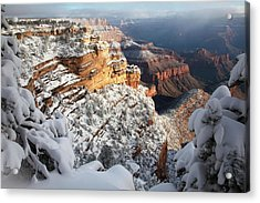 East Rim Snowscape Acrylic Print by Mike Buchheit