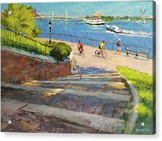 East River From Carl Schurz Park Acrylic Print by Peter Salwen