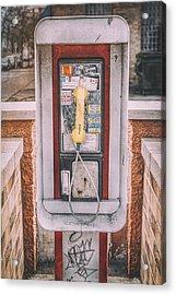 East Side Pay Phone Acrylic Print