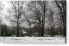 East Tennessee Winter Acrylic Print by Todd A Blanchard