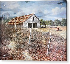 East Texas Barn Acrylic Print by Bob Hallmark