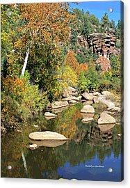East Verde Fall Crossing Acrylic Print