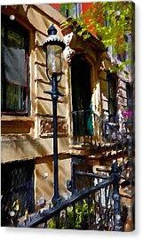 East Village New York Townhouse Acrylic Print