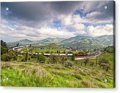 Eastbound Train At The Tehachapi Loop Acrylic Print