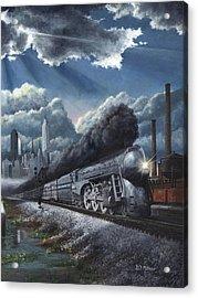 Eastbound Twentieth Century Limited Acrylic Print by David Mittner