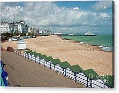 Eastbourne Beach Sussex Uk Acrylic Print by Donald Davis