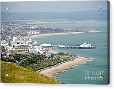 Eastbourne From Beachy Head Sussex Uk Acrylic Print by Donald Davis
