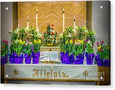 Acrylic Print featuring the photograph Easter Alter And Flowers by Nick Zelinsky