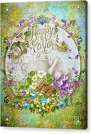Acrylic Print featuring the mixed media Easter Breakfast by Mo T
