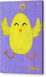 Acrylic Print featuring the painting Easter Chicky by Jamie Frier