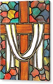 Easter Cross 6 Acrylic Print by Jim Harris