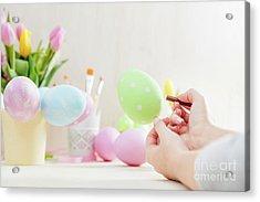 Easter Egg Creative Painting. Acrylic Print