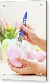 Easter Egg Decorating In An Atelier. Acrylic Print