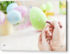 Easter Egg Handcrafted At Home. Acrylic Print