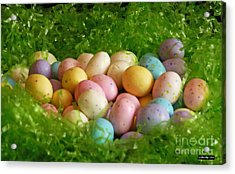 Easter Egg Nest Acrylic Print by Methune Hively