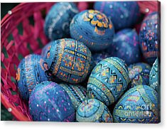 Easter Eggs Acrylic Print by Eva Lechner