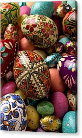 Easter Eggs Acrylic Print by Garry Gay
