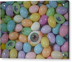 Acrylic Print featuring the mixed media Easter Eyes by Douglas Fromm