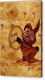 Easter Golden Egg For You Acrylic Print by Georgeta  Blanaru