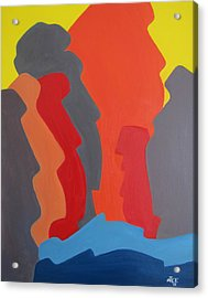 Easter Island Acrylic Print by Michael  TMAD Finney AKA MTEE