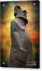 Acrylic Print featuring the photograph Easter Island Moai by Adrian Evans
