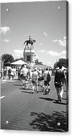 Easter On Monument Ave Acrylic Print by Karen C