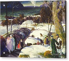 Easter Snow Acrylic Print by George Wesley Bellows