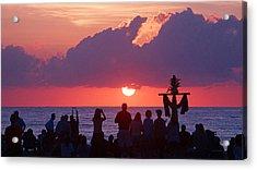 Easter Sunrise Beach Service Acrylic Print