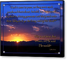 Easter Sunrise - He Is Risen Acrylic Print