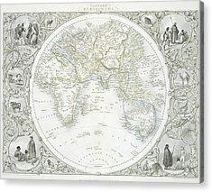 Eastern Hemisphere Acrylic Print by John Rapkin