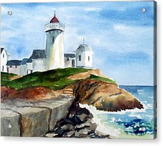 Eastern Point Light Acrylic Print by Anne Trotter Hodge