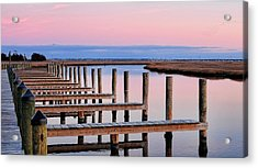 Eastern Shore On The Docks Acrylic Print