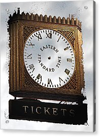 Acrylic Print featuring the photograph Eastern Standard Time by Christopher Woods