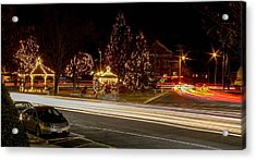 Easthampton Light Trails Acrylic Print