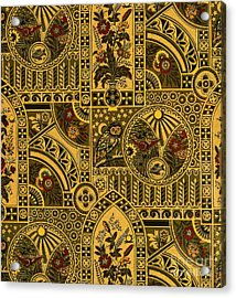 Eastlake Gilt Victorian Tapestry With Owl Acrylic Print