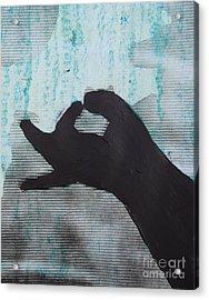 Easy Green Acrylic Print by Sean-Michael Gettys