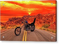 Acrylic Print featuring the photograph Easy Rider Chopper by Louis Ferreira