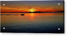 Easy Sunday Sunset Acrylic Print