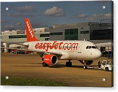 Acrylic Print featuring the photograph Easyjet Airbus A319-111  by Tim Beach