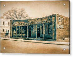 Acrylic Print featuring the photograph Eat And Drink by Lou Novick