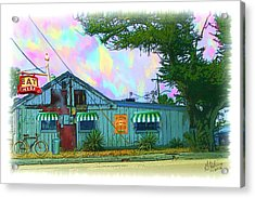Eat At Joe's Acrylic Print by Gerry Robins