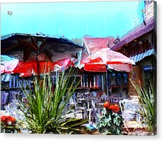 Eat At Joe's Acrylic Print by Methune Hively
