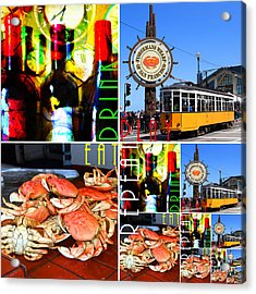 Eat Drink Play Repeat 20140713 San Francisco Acrylic Print