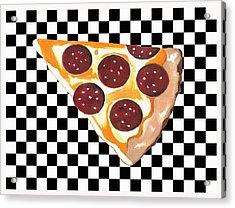Acrylic Print featuring the mixed media Eat Pizza by Kathleen Sartoris