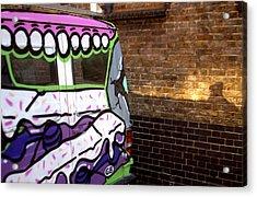 Eat That Wall Acrylic Print by Jez C Self