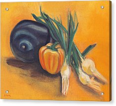 Acrylic Print featuring the painting Eat Your Vegetables by Shawna Rowe